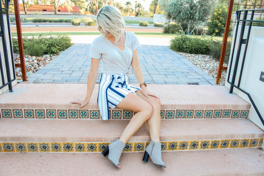 Neutral Toned Wrap Skirt graphic