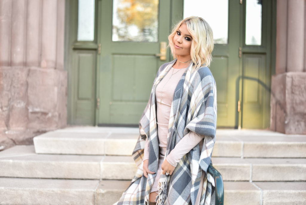 The Best Plaid Cape for Under $40 graphic
