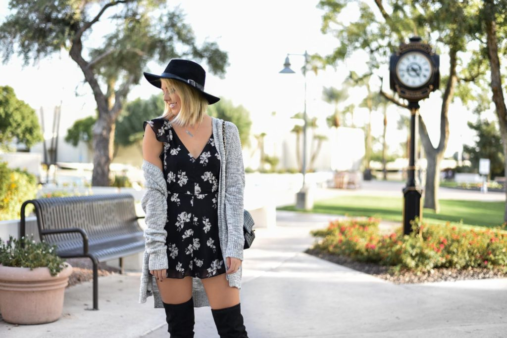 Fall Floral Romper + <BR> Canon Rebel / Kate Spade Giveaway graphic