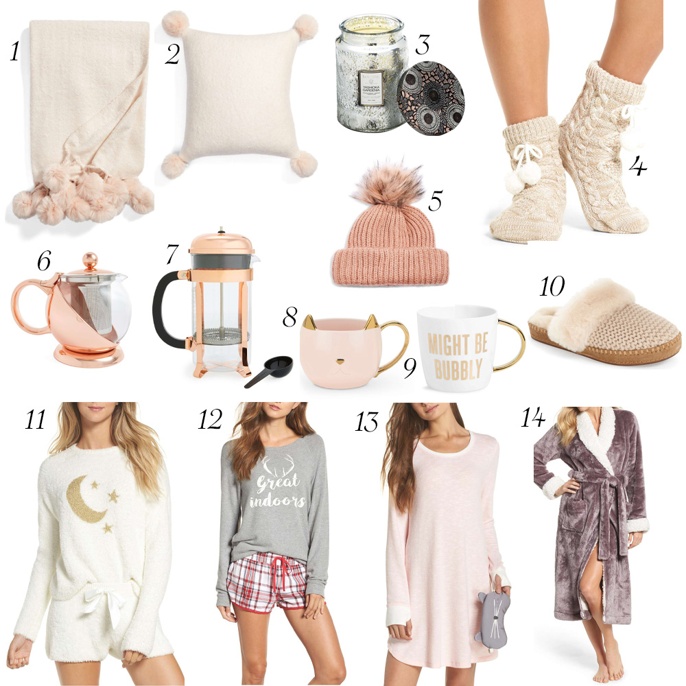 Warm and Cozy Gift Guide graphic