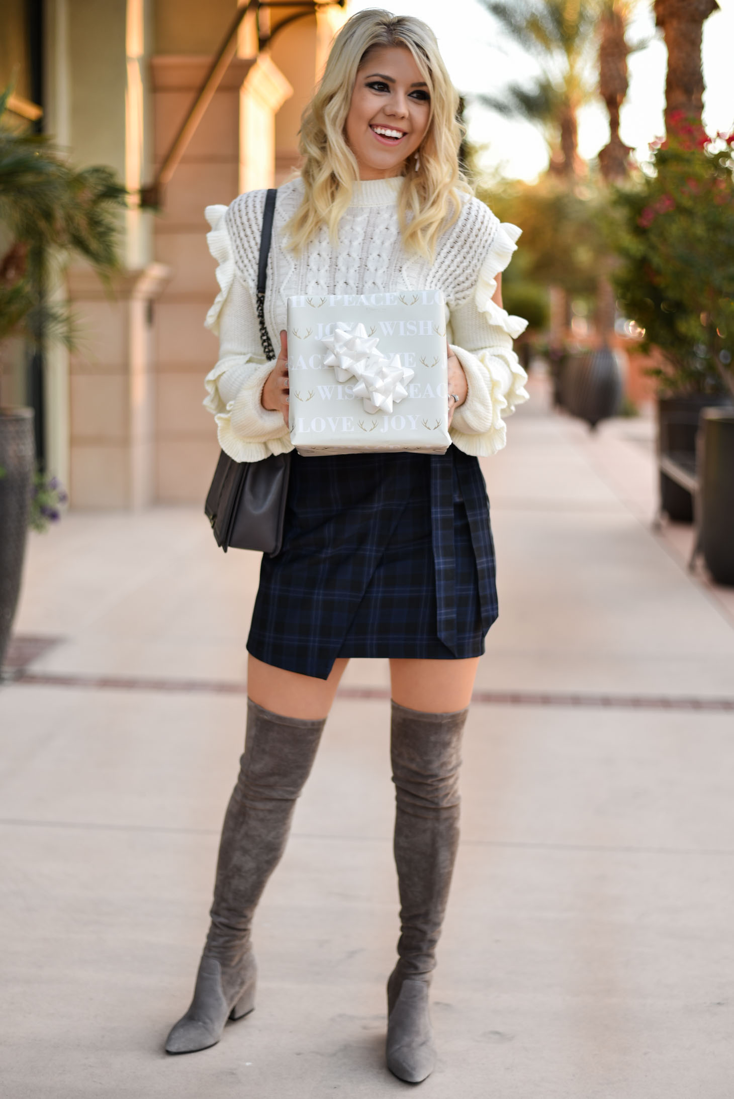 Erin Elizabeth of Wink and a Twirl Wearing Holiday Style