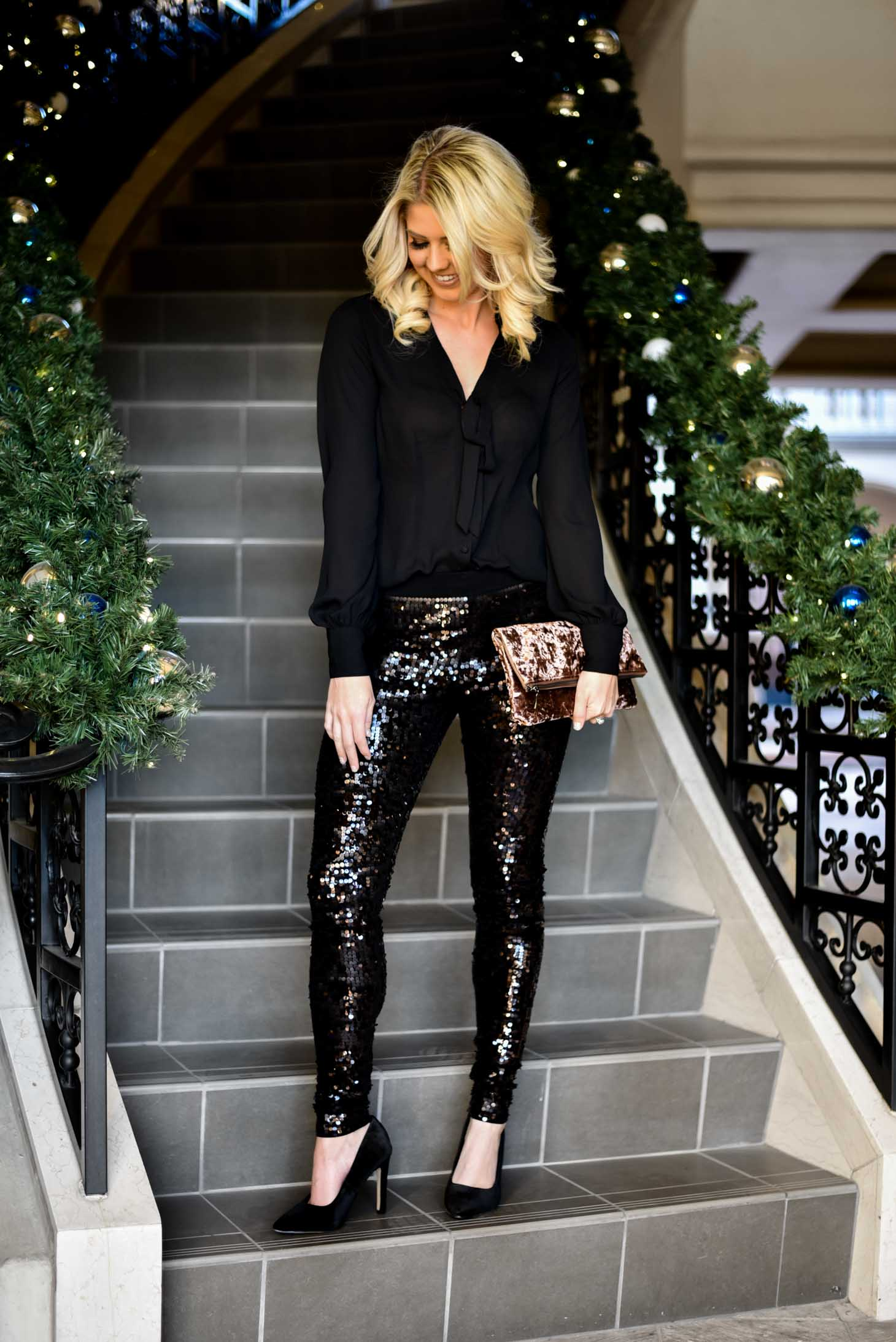 Erin Elizabeth of Wink and a Twirl Holiday Party Look