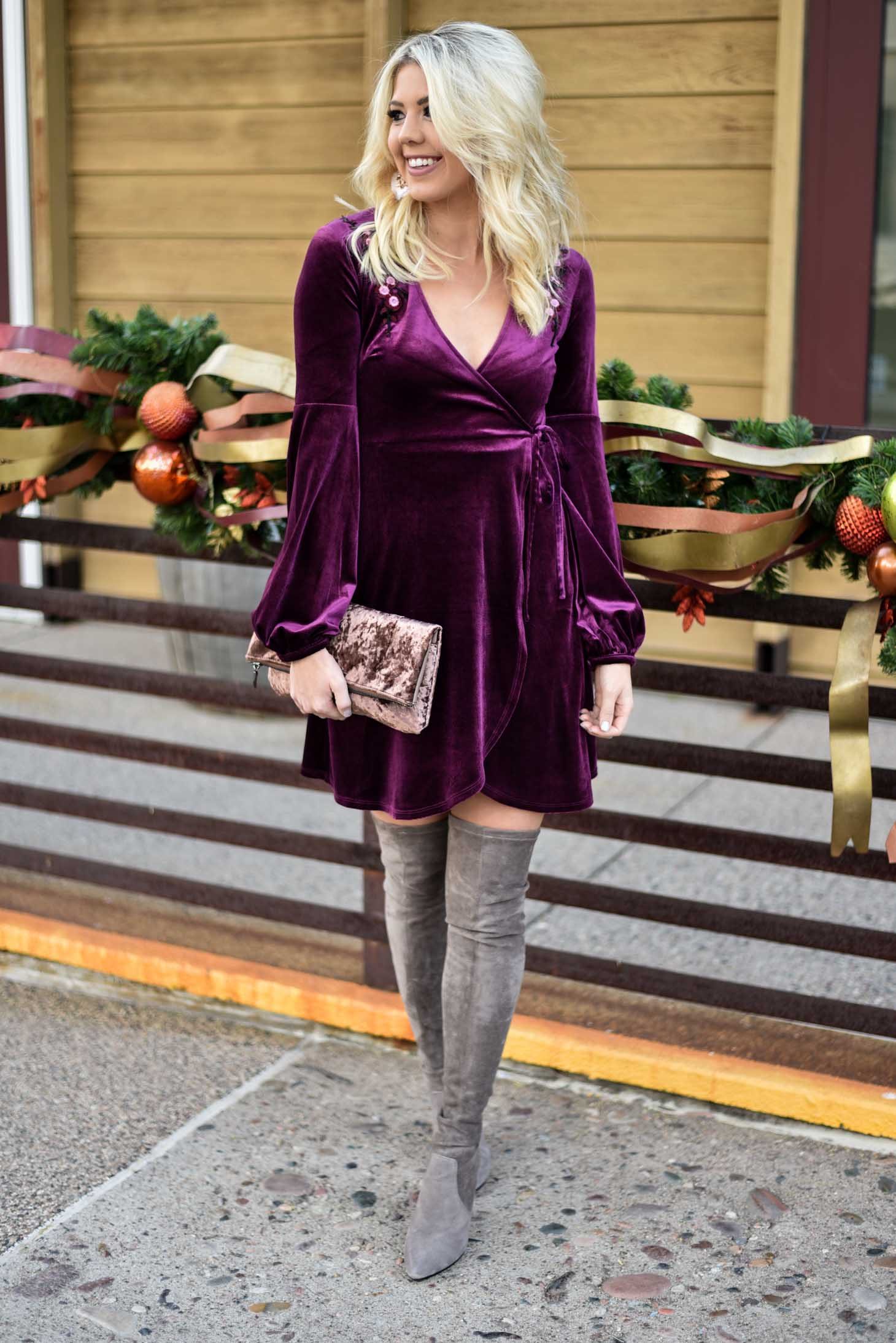 Erin Elizabeth of Wink and a Twirl in Holiday Dress