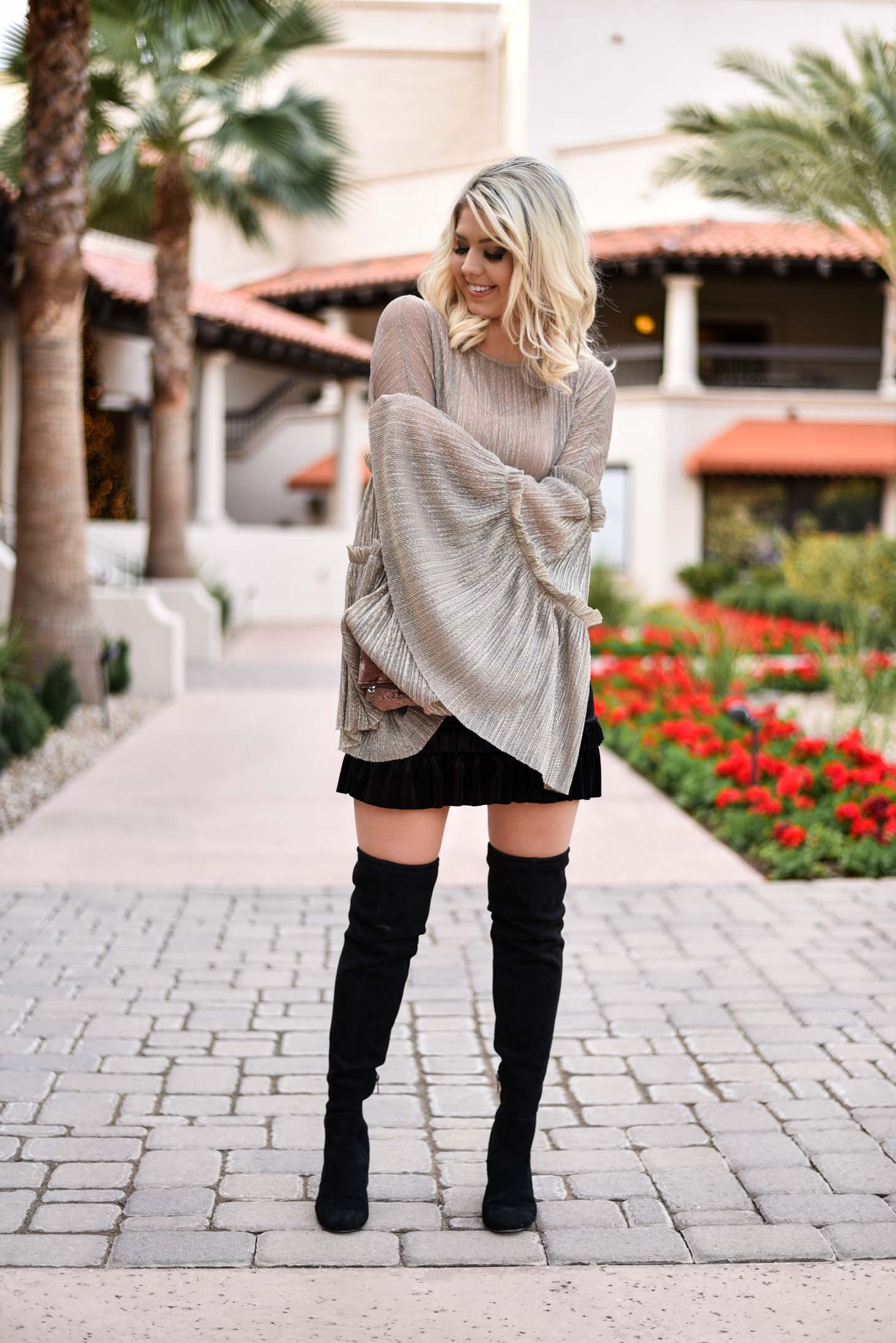 Erin Elizabeth of Wink and a Twirl in New Years Eve Look