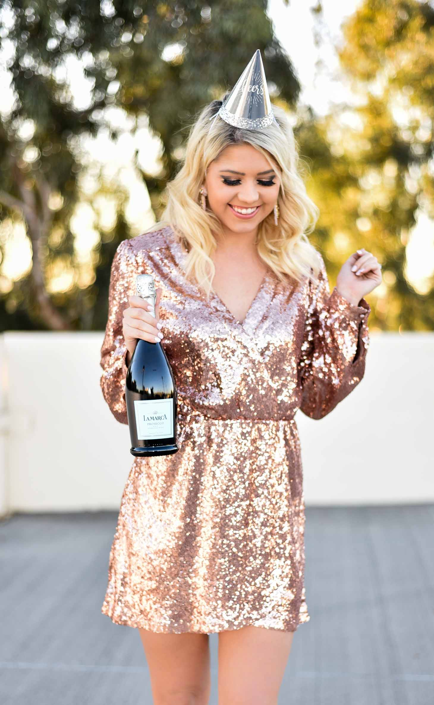 Erin Elizabeth of Wink and a Twirl in New Year's Eve Look