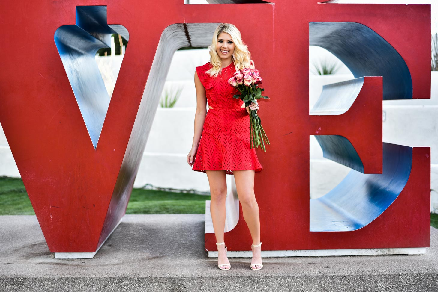 Erin Elizabeth of Wink and a Twirl in Red Dress For Valentine's Day