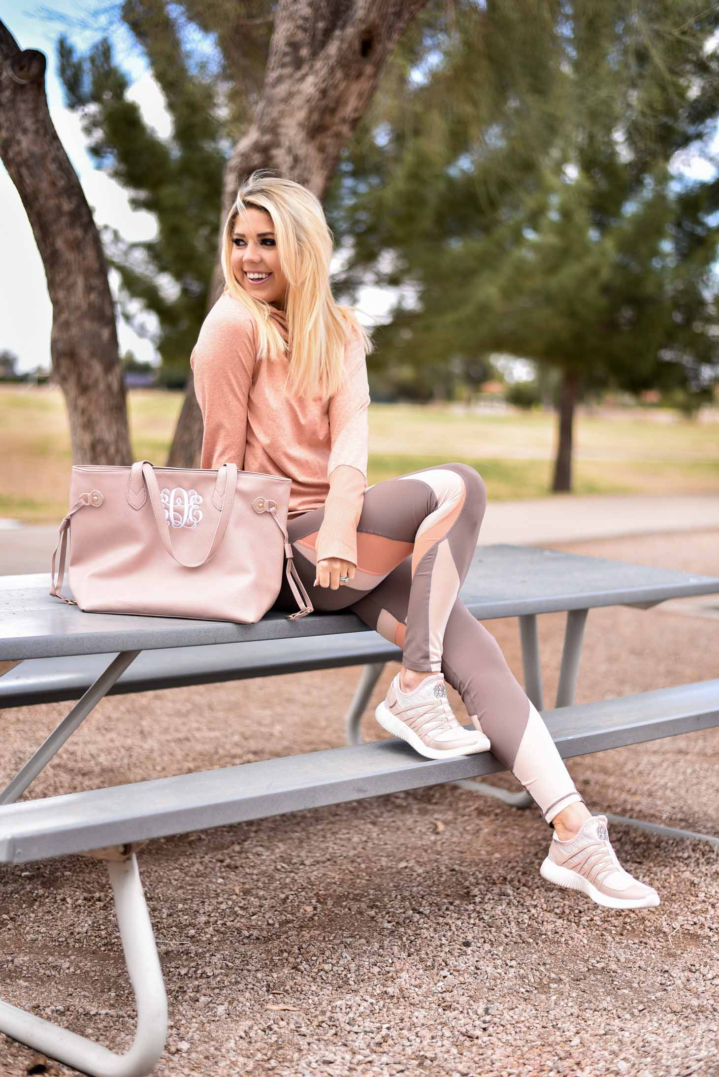 Erin Elizabeth of Wink and a Twirl in Zella Athleisure