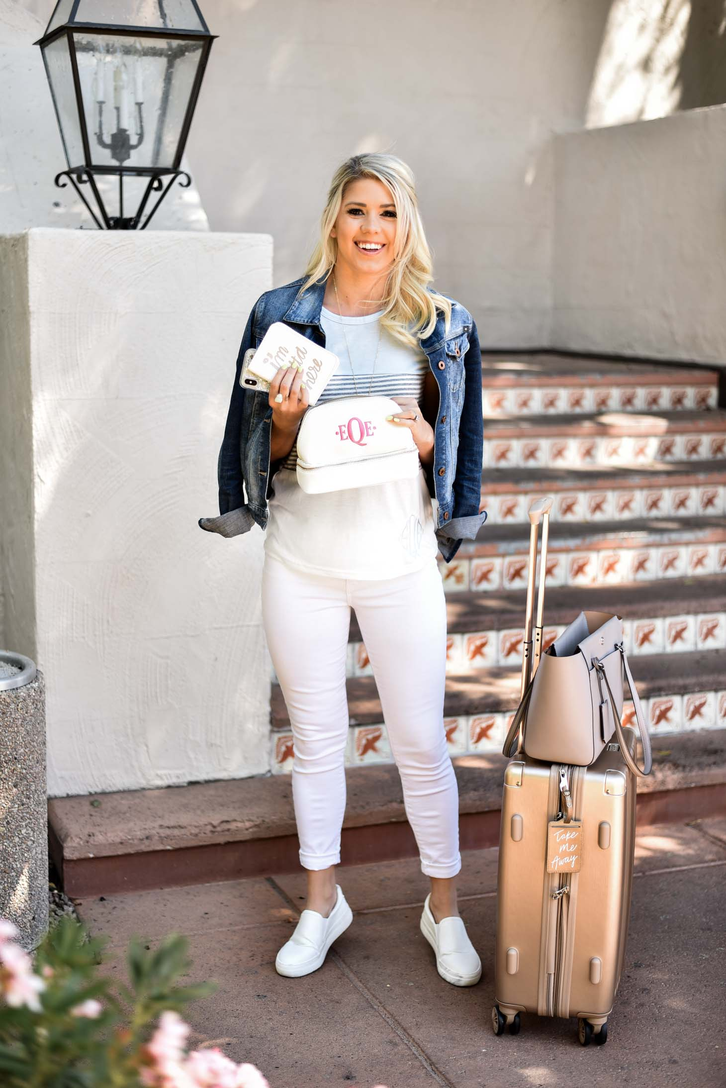 Erin Elizabeth of Wink and a Twirl Travel Style and Luggage