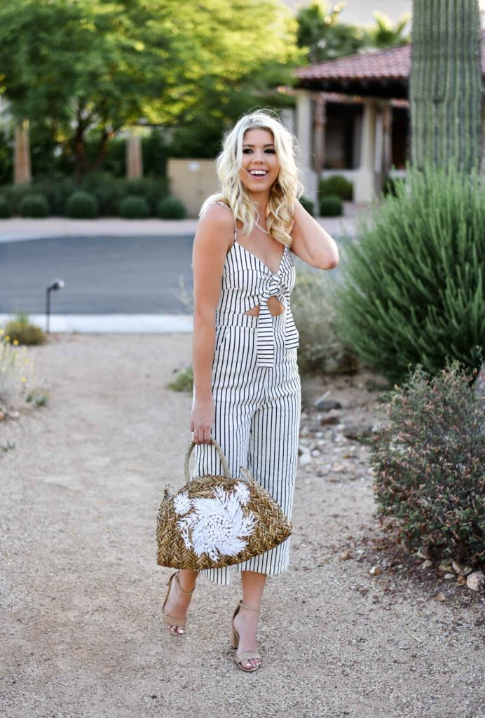 The Most Fab Pinstriped Jumpsuit graphic