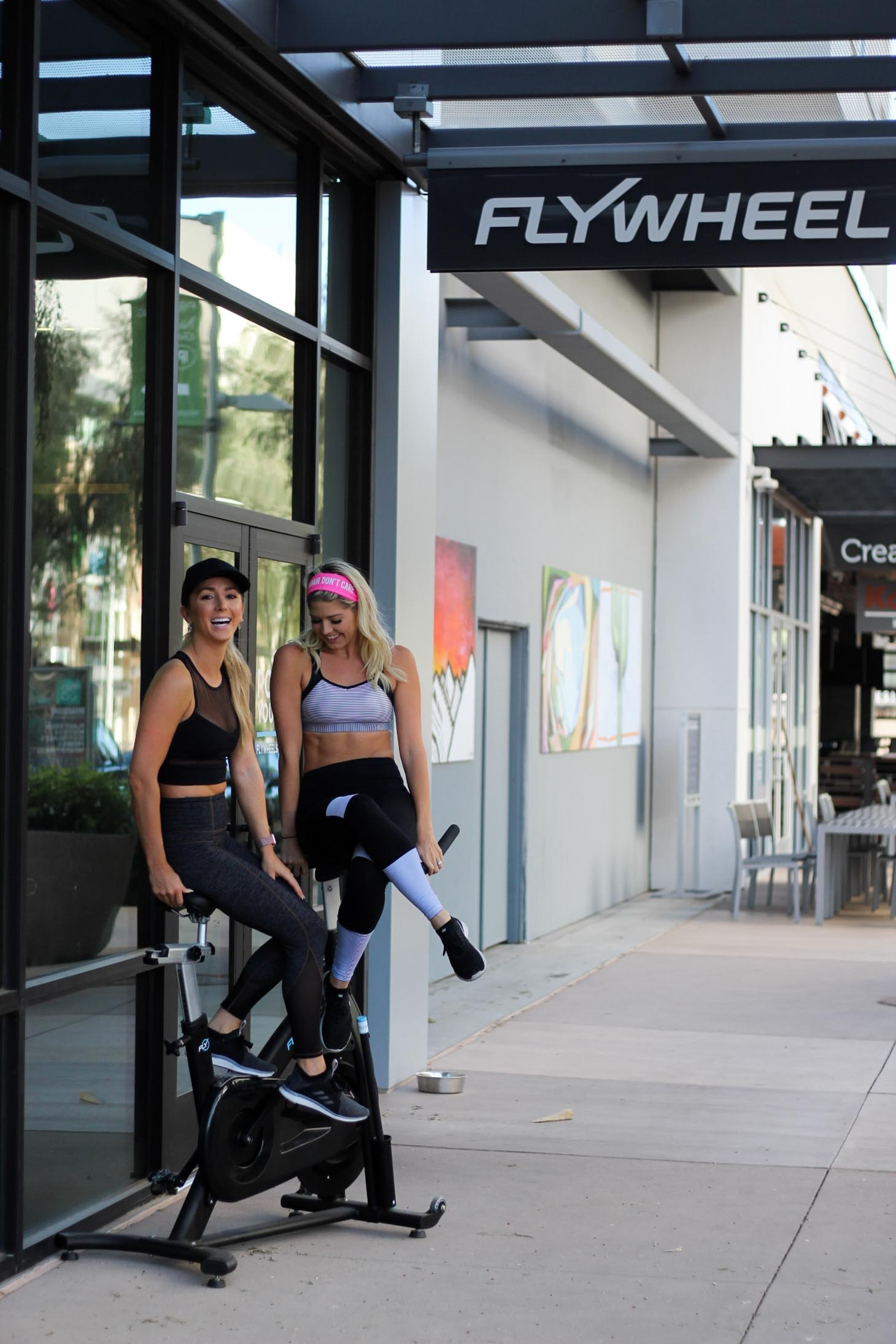 Erin Elizabeth of Wink and a Twirl shares her Flywheel Sports Cycle Experience at Flywheel Sports Studio at Scottsdale Quarter in Scottsdale, Arizona
