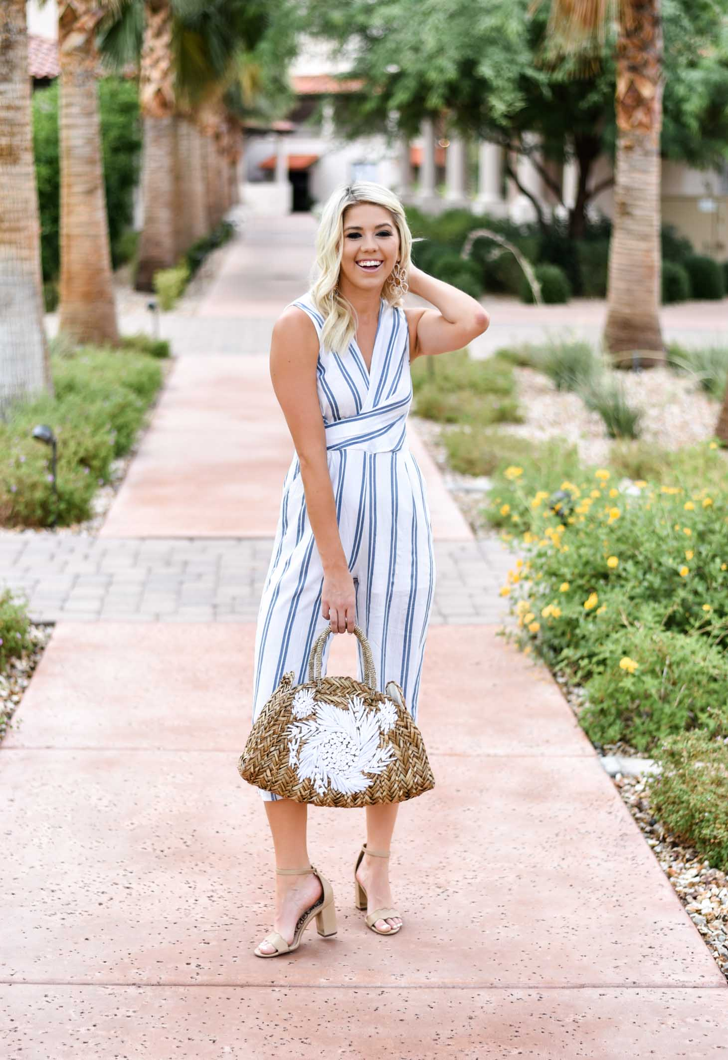 Erin Elizabeth of Wink and a Twirl shares this Vici Dolls striped jumpsuit