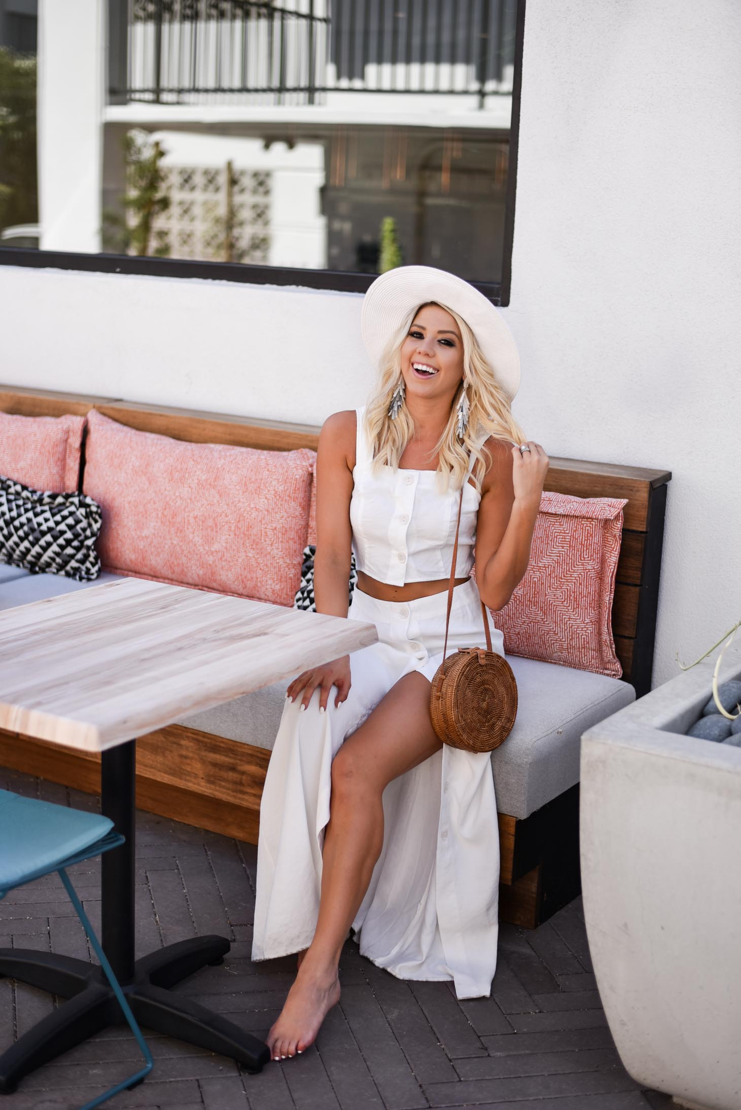 Erin Elizabeth of Wink and a Twirl shares the cutest two piece set from Emmer and Oat at her recent staycation at the Hotel Adeline in Scottsdale, Arizona