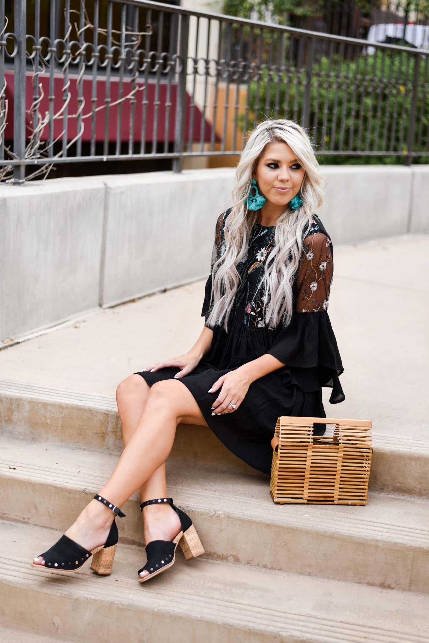 Erin Elizabeth of Wink and a Twirl shares the cutest Fall dress by Jillian Landry Designs