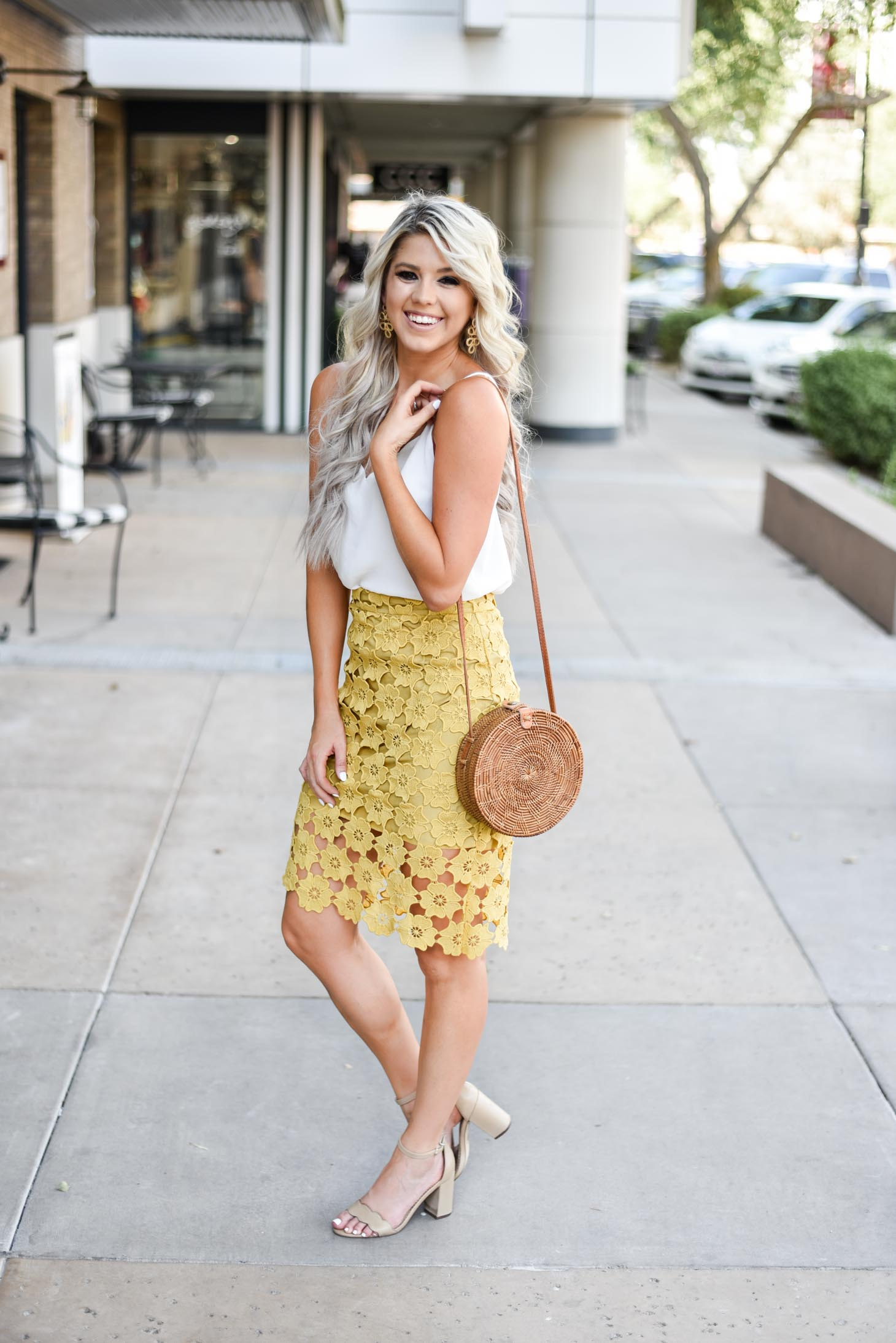Lace Pencil Skirt graphic