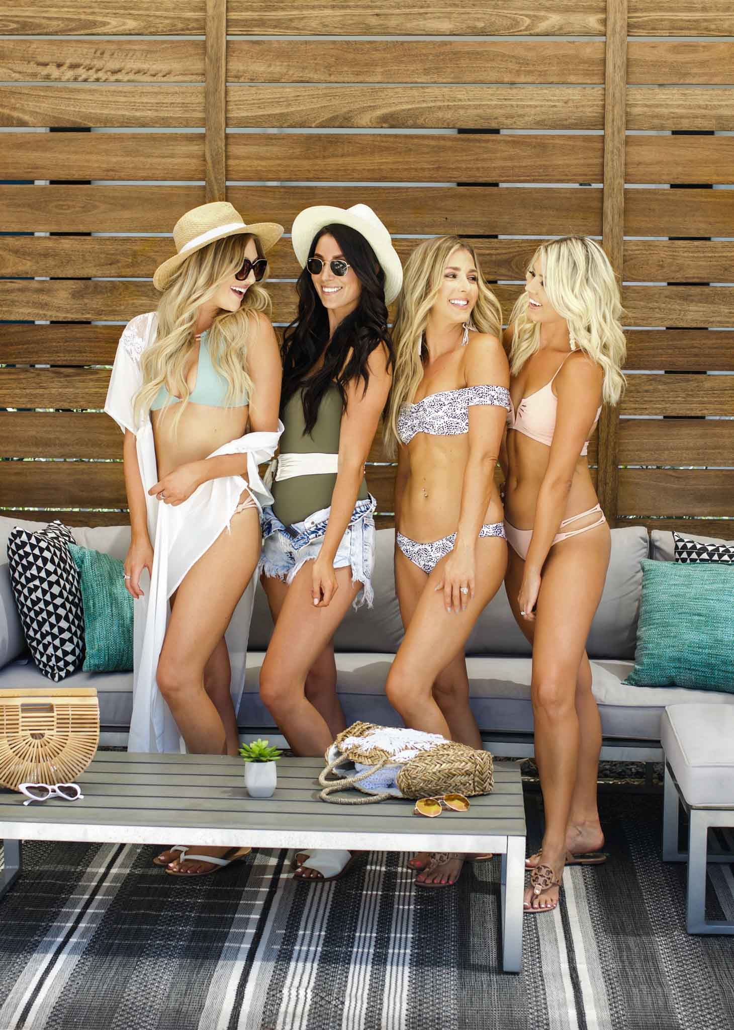 Erin Elizabeth of Wink and a Twirl and local Arizona bloggers share their KOA Swimwear at the Hotel Adeline in Scottsdale, Arizona