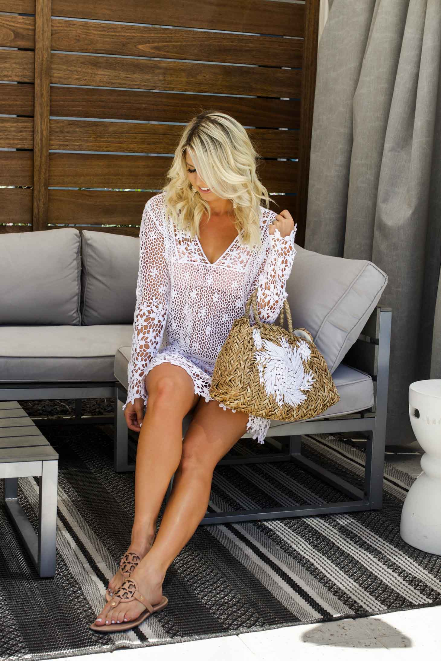 Erin Eilzabeth of Wink and a Twirl shares this Tortuga Coverup during her staycation at the Hotel Adeline in Scottsdale, Arizona