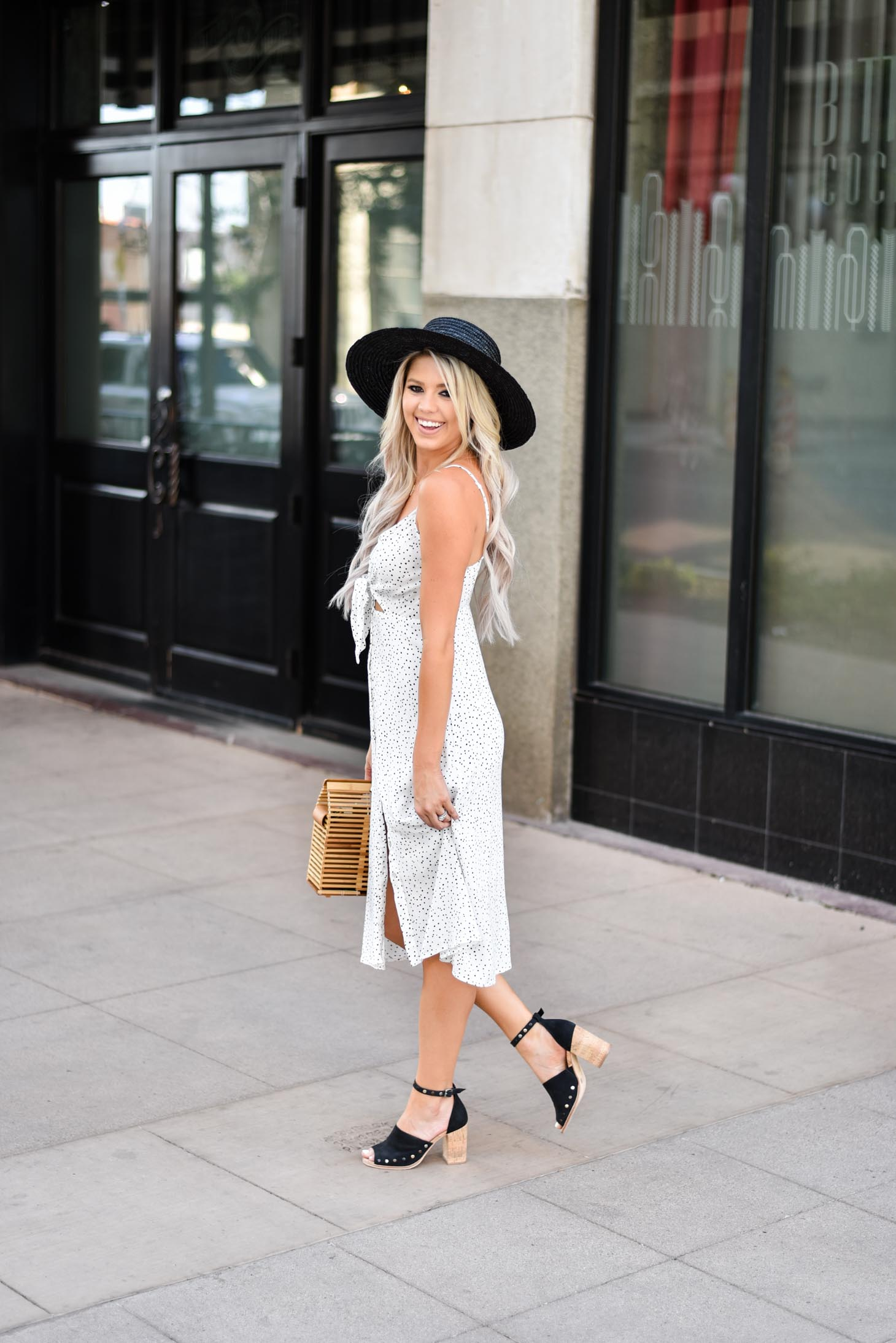 Erin Elizabeth of Wink and a Twirl shares the sweetest polka dot dress from Shop Entourage in Downtown Phoenix