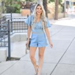 Erin Elizabeth of Wink and a Twirl shares the cutest two piece short set from Shop Sugar Lips