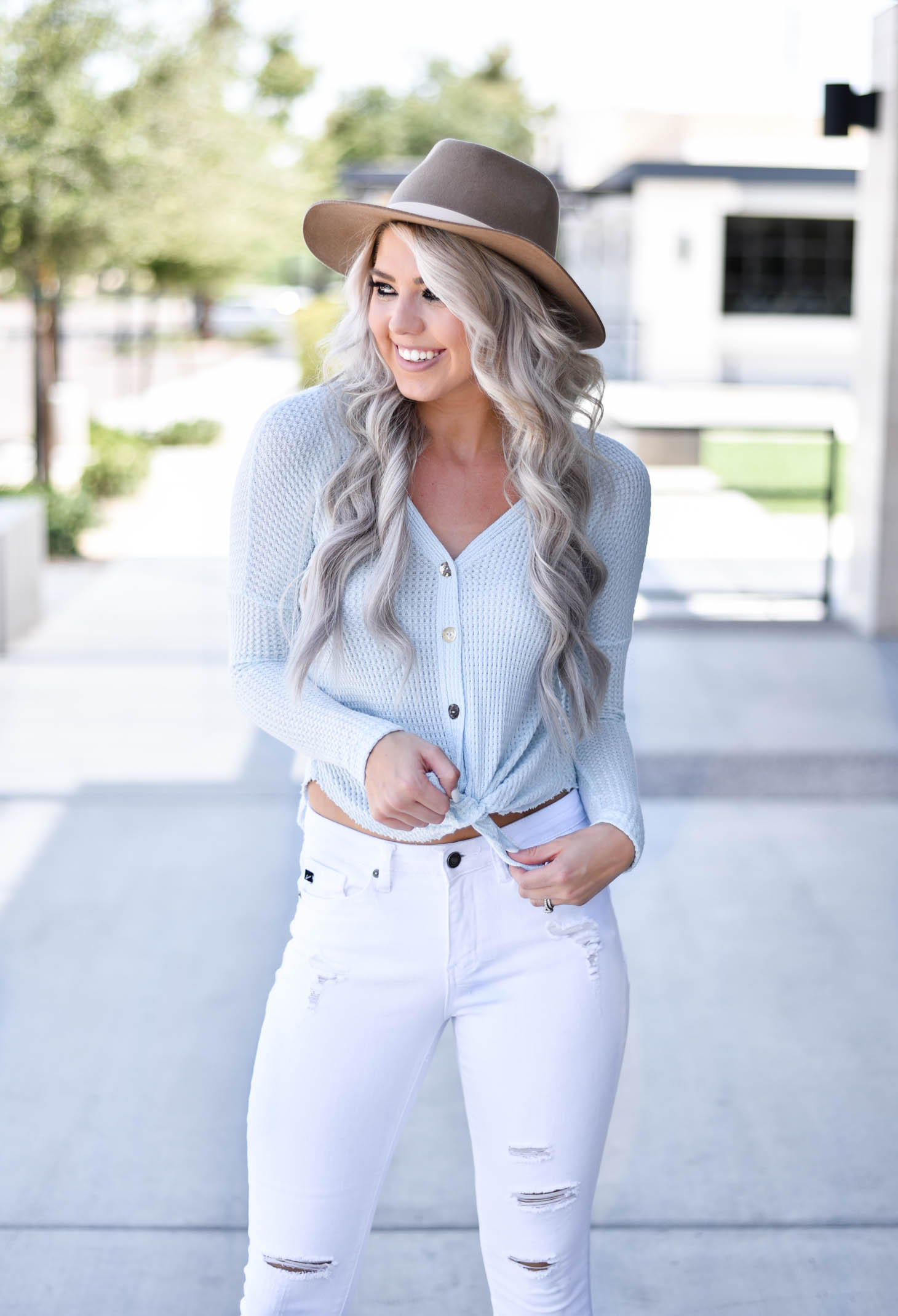 Erin Elizabeth of Wink and a Twirl shares the cutest fall top with Pink Lily Boutique