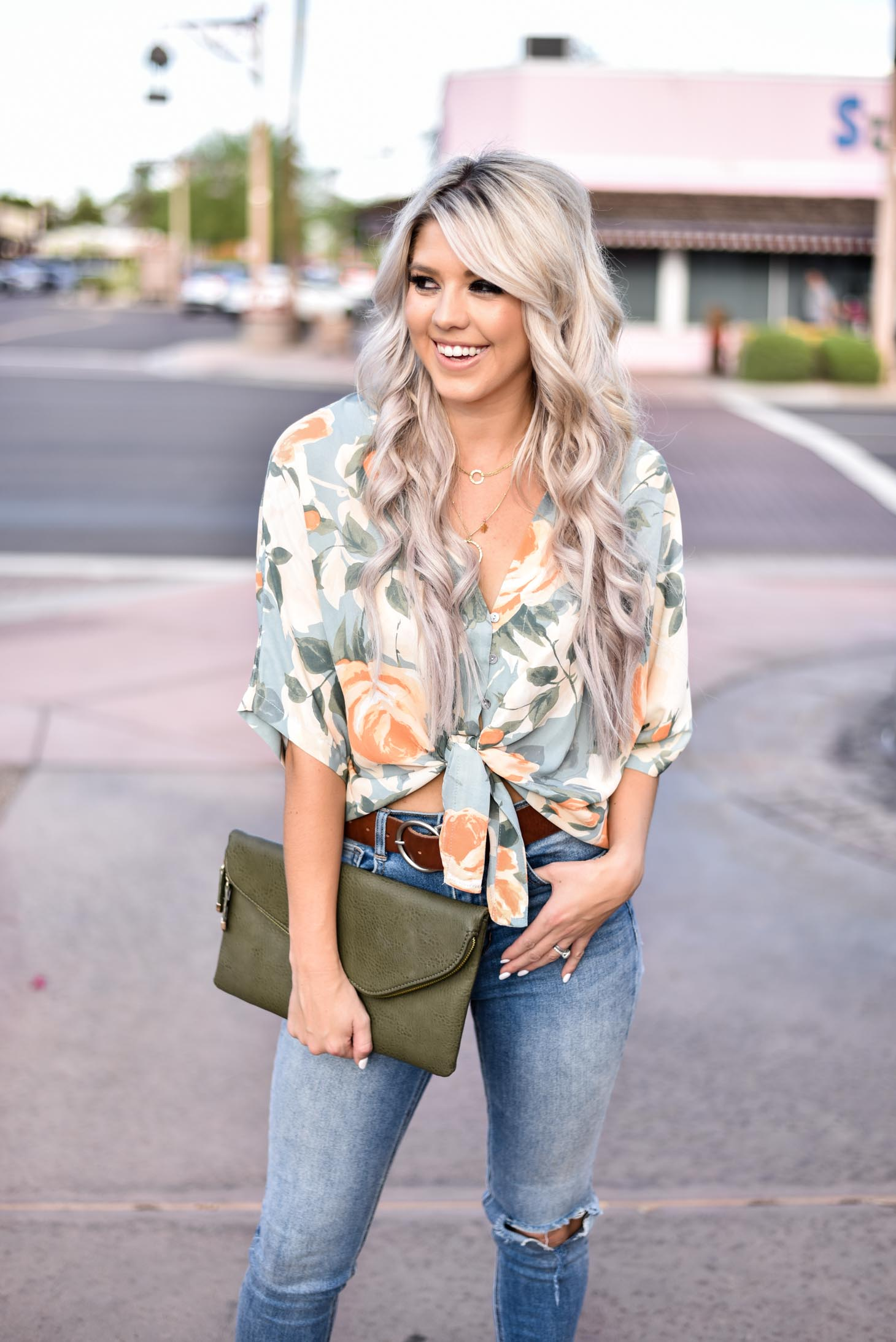 Floral Tie Top from 8.28 Boutique graphic