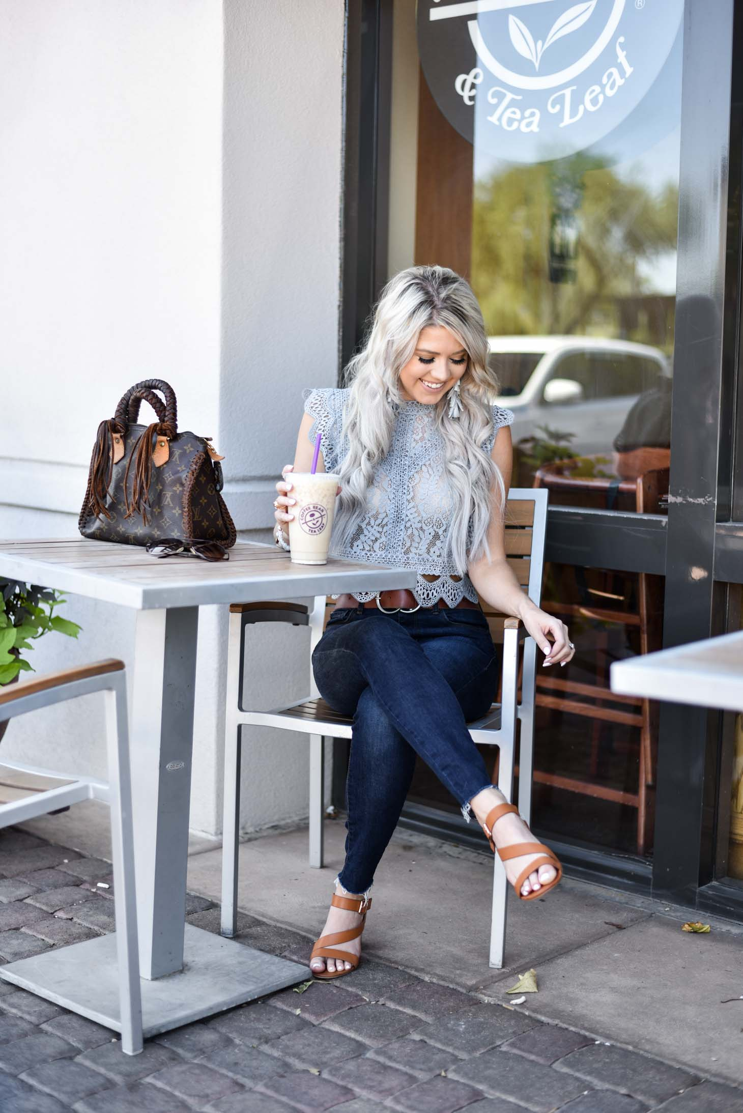 Erin Elizabeth of Wink and a Twirl shares the cutest Chicwish lace top perfect for your Fall style