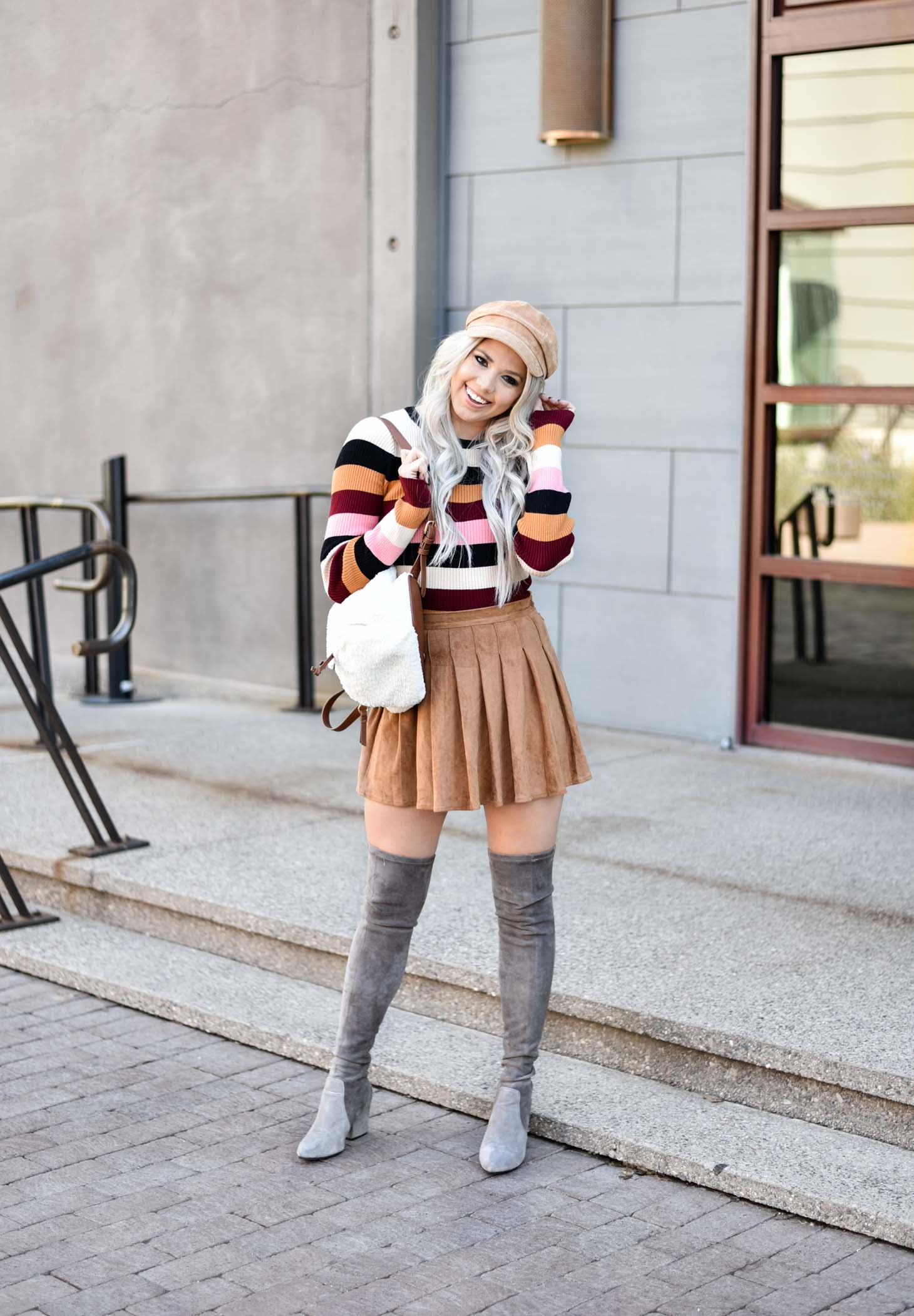 Erin Elizabeth of Wink and a Twirl shares the cutest fall style that is from Forever 21 and super affordable style