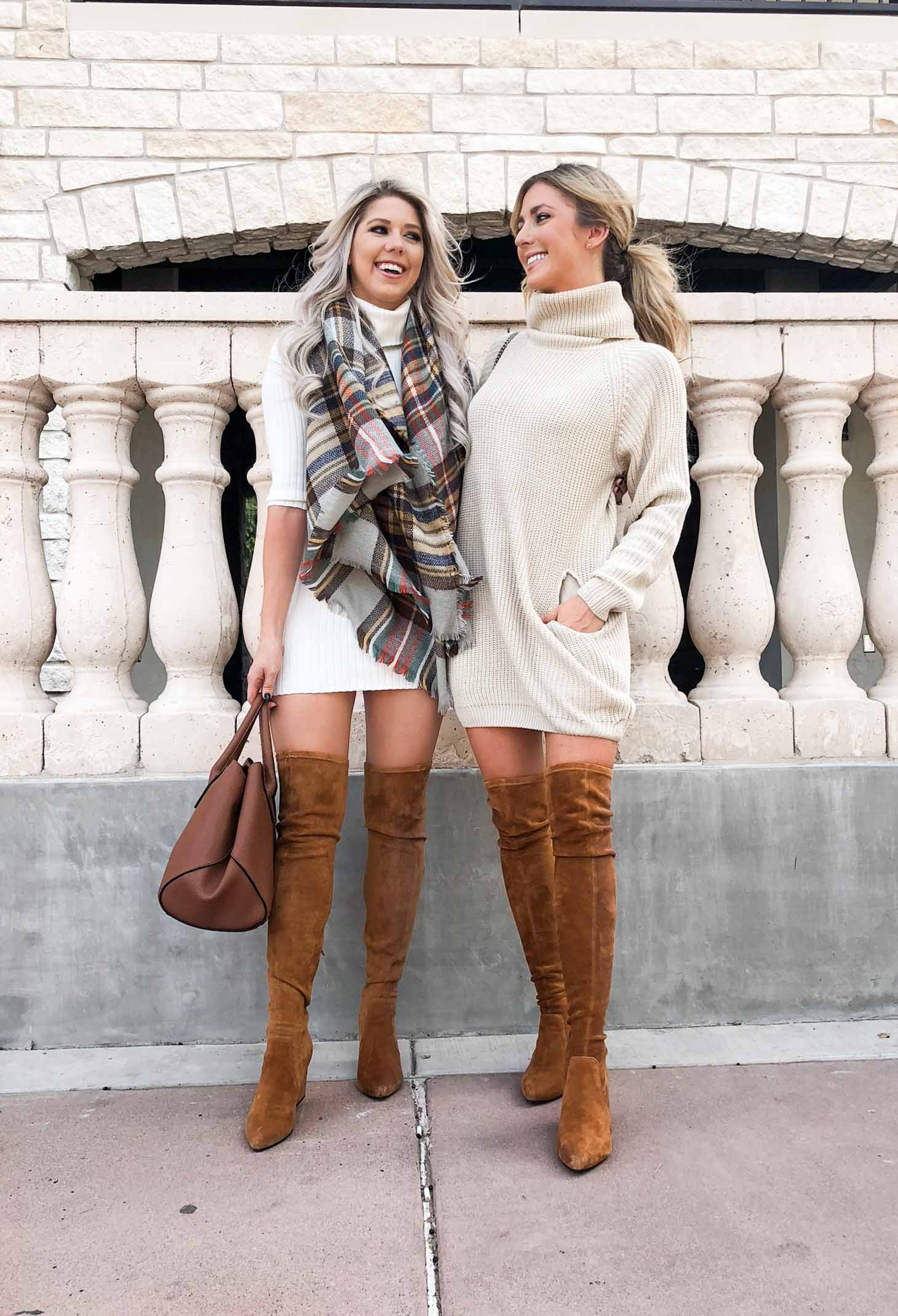 Erin Elizabeth of Wink and a Twirl shares the cutest Pink Lily Boutique outfit for Fall Along with Melissa of Always Melissa
