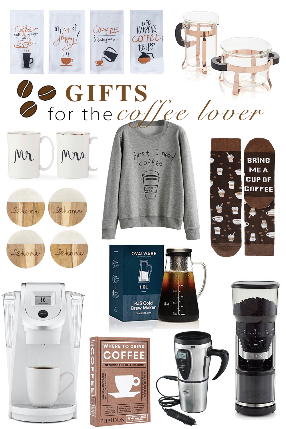 Erin Elizabeth of Wink and a Twirl shares the perfect gift ideas for the coffee lover