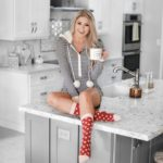 Erin Elizabeth of Wink and a Twirl shares her favorite new Abercrombie pajamas and cozy homebody gift guide