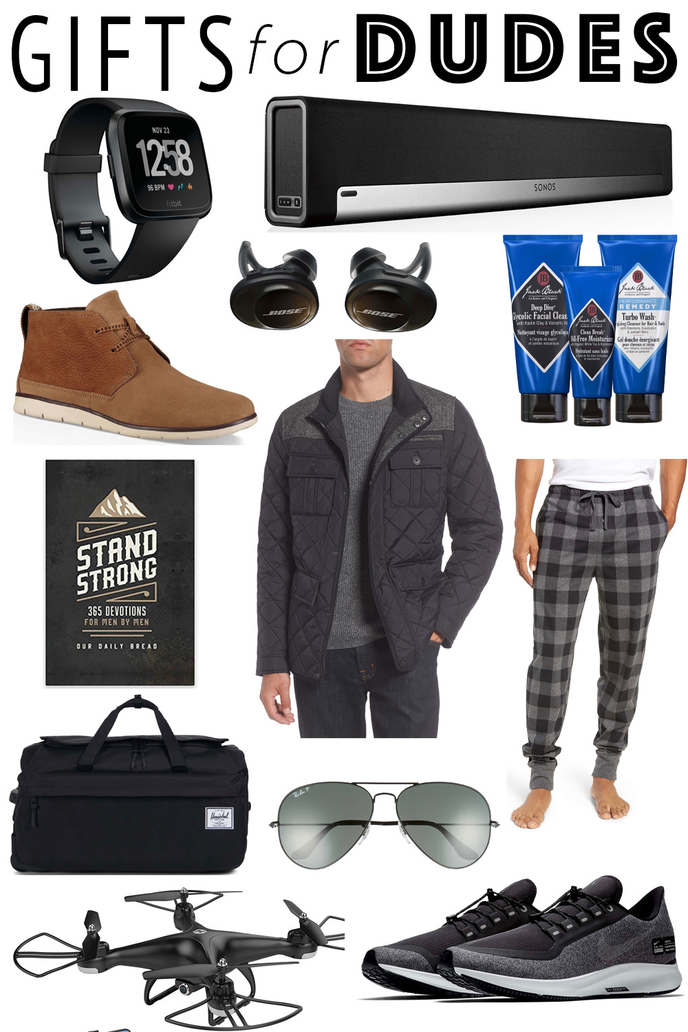 Erin Elizabeth of Wink and a Twirl shares the perfect Gift Guide for the Dudes and Men In Your Life