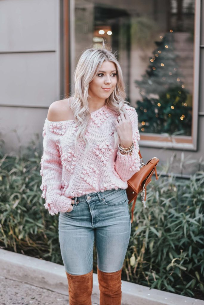 Erin Elizabeth of Wink and a Twirl shares the must have sweater from Chicwish