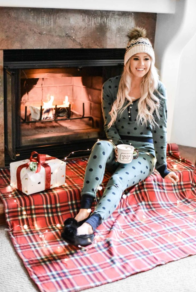 Erin Elizabeth of Wink and a Twirl shares her favorite sets of holiday pjs during her stay at Enzian Inn in Leavenworth, Washington