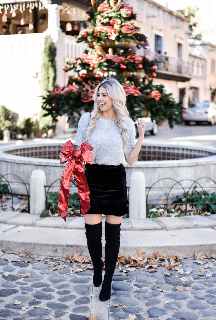 Erin Elizabeth of Wink and a Twirl shares a more casual and comfortable holiday look from Valentina Blvd