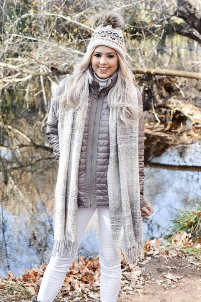 Erin Elizabeth of Wink and a Twirl and her hubby, Brad, share some holiday photos with Johnston & Murphy coats and boots