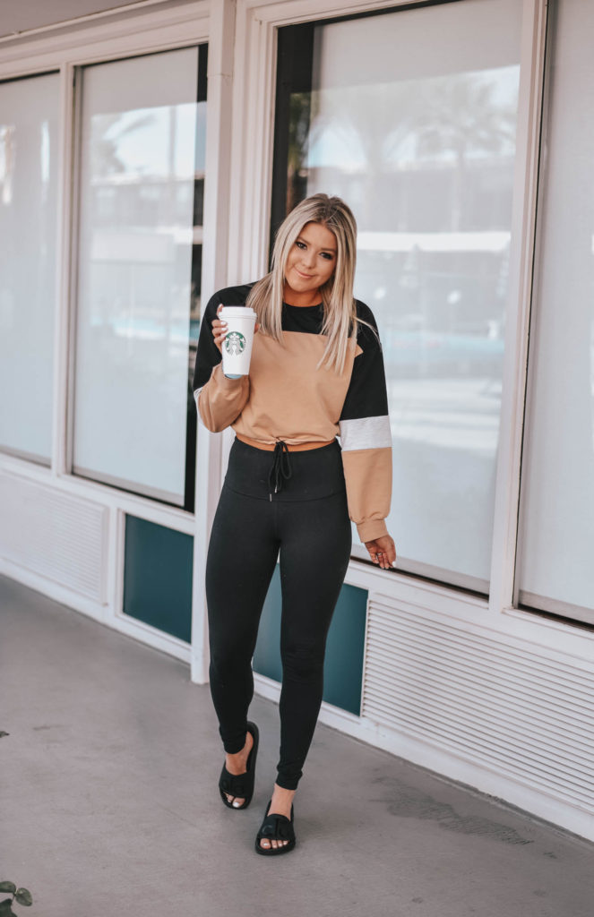 Erin Elizabeth of Wink and a Twirl shares her new favorite crop sweater from Amazon