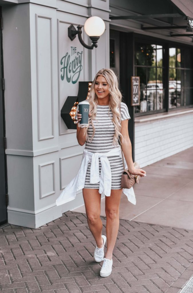 Erin Elizabeth of Wink and a Twirl shares the perfect little t-shirt dress from Revolve