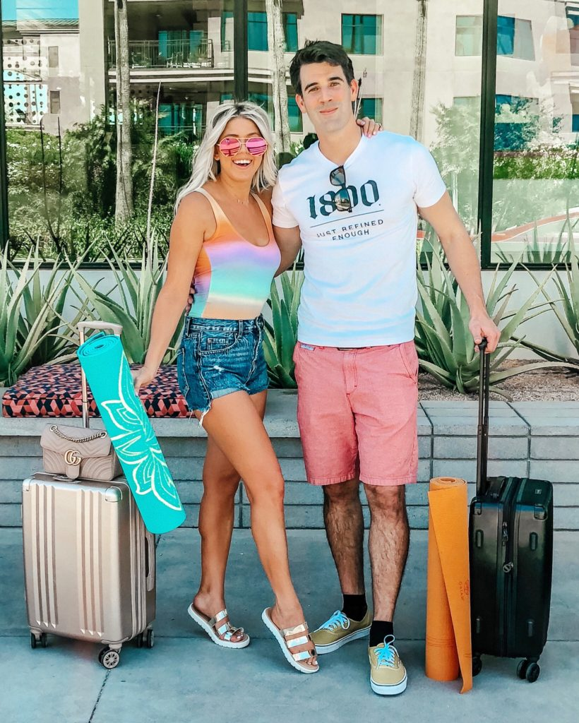 Erin Elizabeth of Wink and a Twirl and husband, Brad, share their staycation at the Andaz Scottsdale Resort and Vikara Nights fitness retreat